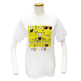 スポンジボブ Tシャツ(フェイス整列)L SPBAP524 SB