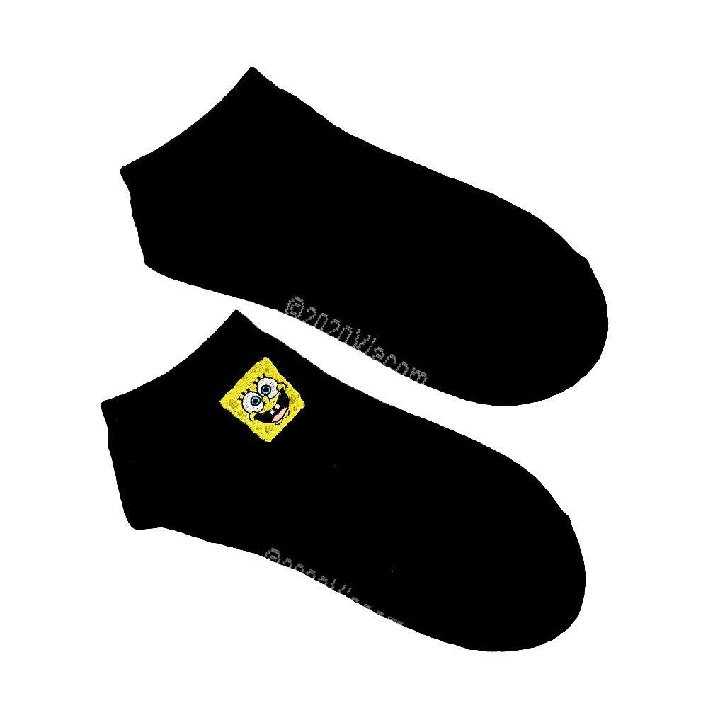 アンクル刺繍ソックス(スポンジ・ボブ)SPBAP526L SB