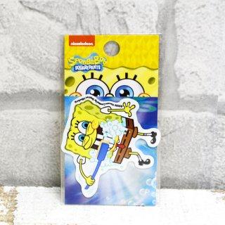 スポンジボブ ダイカットミニステッカー (歯磨き) SPO-017 SB