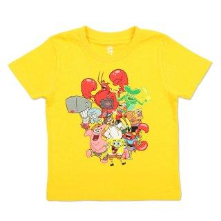 スポンジボブ Tシャツ (スポンジ・ボブ集合)イエロー L 101000481 SB