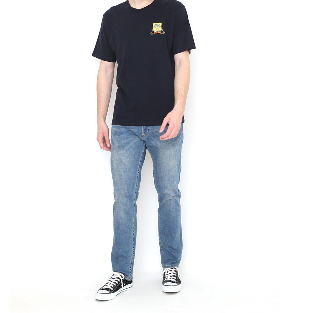 Tシャツ (スポンジ・ボブとゲイリー)ネイビー S 18003051 SB