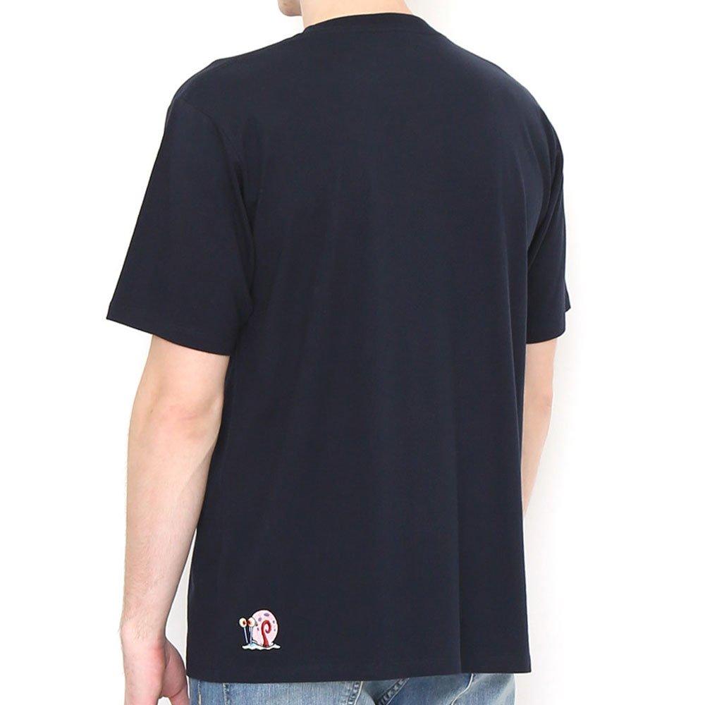 Tシャツ (スポンジ・ボブとゲイリー)ネイビー L 18003051 SB