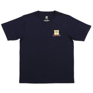 スポンジボブ Tシャツ (スポンジ・ボブとゲイリー)ネイビー L 18003051 SB