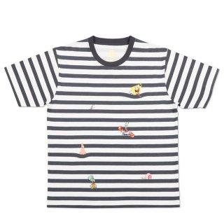 スポンジボブ Tシャツ (フレンズボーダー)ホワイト S 18003052 SB