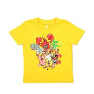 スポンジボブ キッズTシャツ (スポンジ・ボブ集合)イエロー 130 46000993 SB