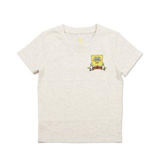 スポンジボブ キッズTシャツ (スポンジ・ボブとゲイリー)ヘザーナチュラル 110 45000571 SB