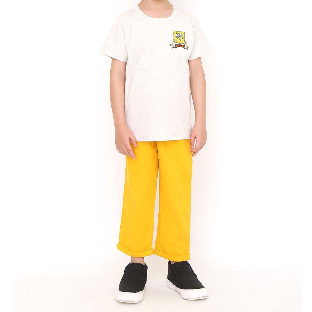 キッズTシャツ (スポンジ・ボブとゲイリー)ヘザーナチュラル 120 45000571 SB
