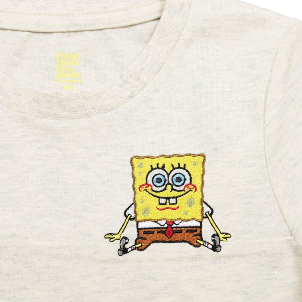 キッズTシャツ (スポンジ・ボブとゲイリー)ヘザーナチュラル 130 45000571 SB