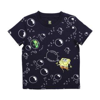 スポンジボブ キッズTシャツ (シャボン玉)ネイビー 110 45000572 SB
