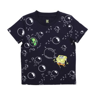 スポンジボブ キッズTシャツ (シャボン玉)ネイビー 120 45000572 SB