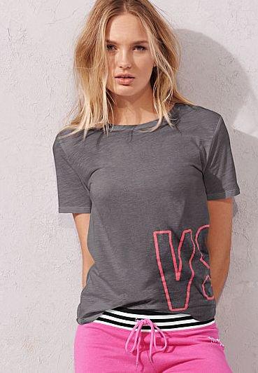 ◆期間限定値下げ9,100円→7,800円 ★EVERYDAY TEES【Tシャツ】ヴィクトリアシークレット/クルーネックTシャツ☆Grey/VS♪(0616…