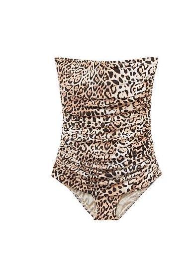 お急ぎください!!《セクシーワンピース大幅値下げ》【ワンピース】ヴィクトリアシークレット/ストラップレスシェイピングスイムドレス☆Natural Leopard♪-12…