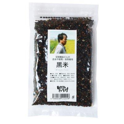 無農薬 黒米|200g|熊本県|自然派きくち村
