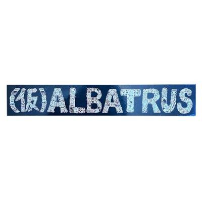 (仮)ALBATRUS|カッティングステッカー|BLACK/WHITE