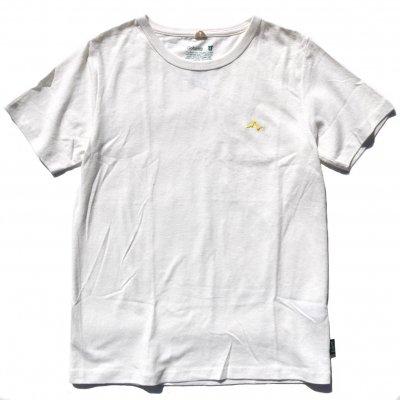【残り1枚!】NAUロゴ刺繍|ヘンプTee|Yellow|Sサイズ|通常価格5,292円