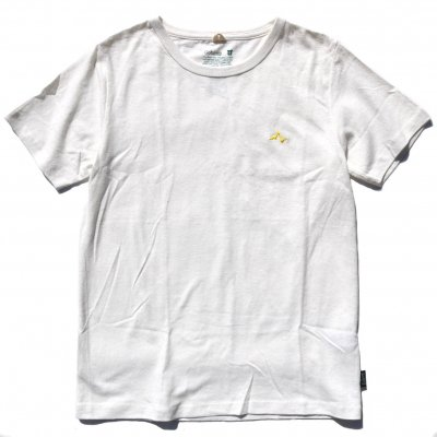 【30%OFF】NAUロゴ刺繍|ヘンプTee|Yellow|通常価格5,292円