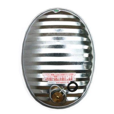 松野屋|トタン湯たんぽ|約2.6L|ミニじょうご付き|