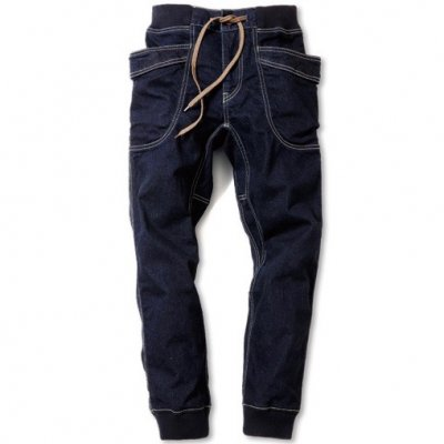 GO HEMP|VENDOR RIB PANTS|STRECH DENIM|ONE WASH