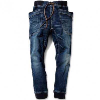 GO HEMP|VENDOR RIB PANTS|STRECH DENIM|USED WASH