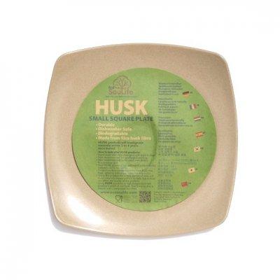 EcoSouLife|HUSK|スクエアプレート [スモール]|お米の籾殻でできたお皿