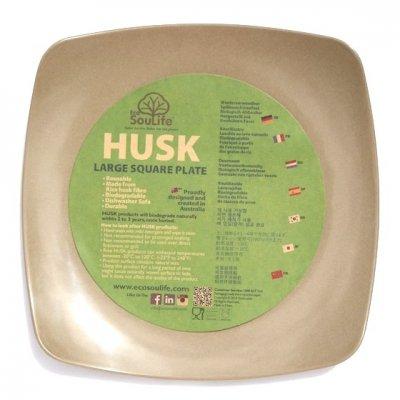 EcoSouLife|HUSK|スクエアプレート [ラージ]|お米の籾殻でできたお皿