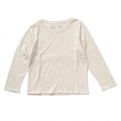 三宅商店オリジナル|ボートネック長袖Tシャツ|生成り|レディース