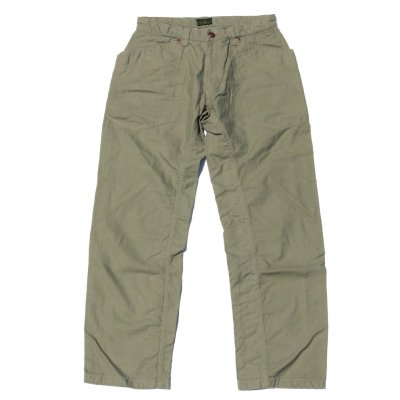 GO HEMP | TRAVELING PANTS/ H/C BACK SATIN SULFIDE DYE | 30inch | KHAKI
