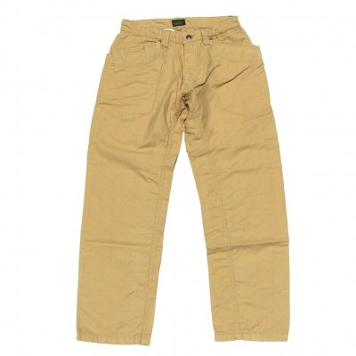 GO HEMP | TRAVELING PANTS/ H/C BACK SATIN SULFIDE DYE | 30inch|BEIGE
