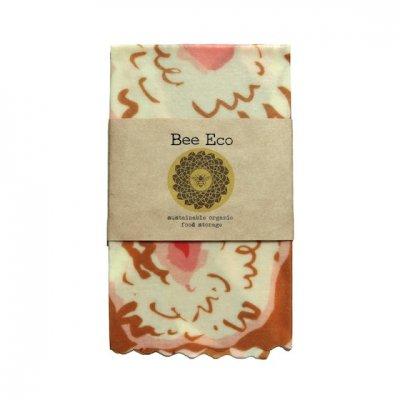 Bee Eco Wrap|天然素材のラップ|Mサイズ [約27×27cm]|ミツロウ×オーガニックコットン|繰返し使用可|D