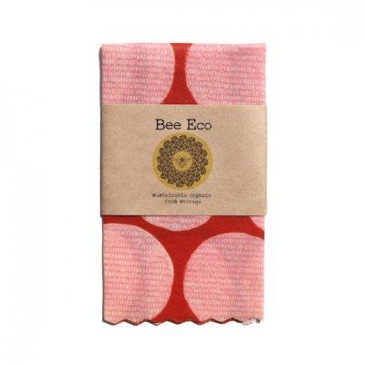 Bee Eco Wrap|天然素材のラップ|Mサイズ [約27×27cm]|ミツロウ×オーガニックコットン|繰返し使用可|F