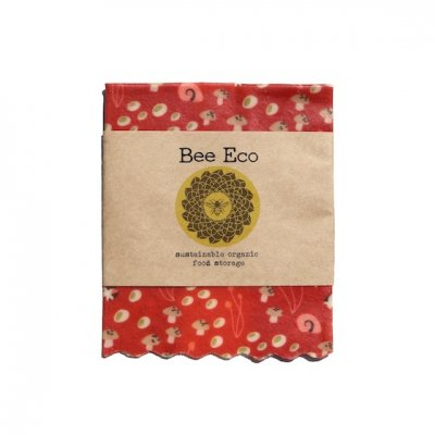 Bee Eco Wrap 天然素材のラップ Sサイズ [約18×18cm] ミツロウ×オーガニックコットン 繰返し使用可 C