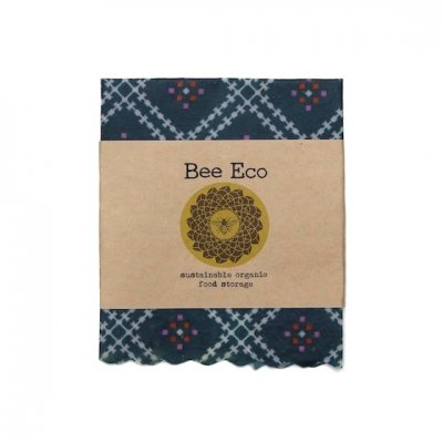 Bee Eco Wrap 天然素材のラップ Sサイズ [約18×18cm] ミツロウ×オーガニックコットン 繰返し使用可 E