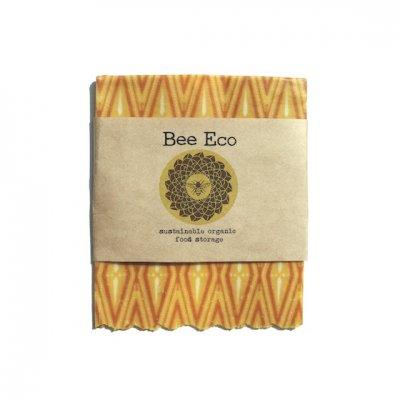Bee Eco Wrap|天然素材のラップ|Sサイズ [約18×18cm]|ミツロウ×オーガニックコットン|繰返し使用可|F