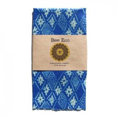 Bee Eco Wrap|天然素材のラップ|Lサイズ [約33×33cm]|ミツロウ×オーガニックコットン|繰返し使用可|A