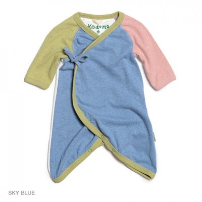 Kodomo|LOVE WRAP|ロンパース|SKY BLUE|KIDS|GO HEMP
