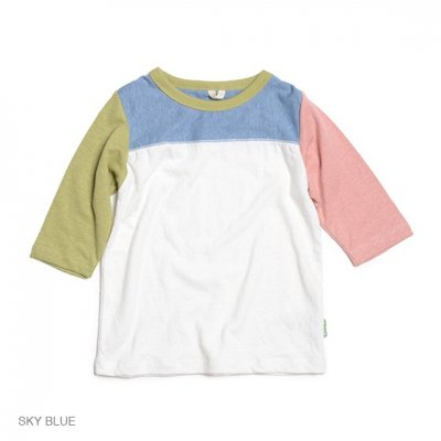 Kodomo|SUNNY FOOTBALL TEE|SKY BLUE|KIDS|GO HEMP