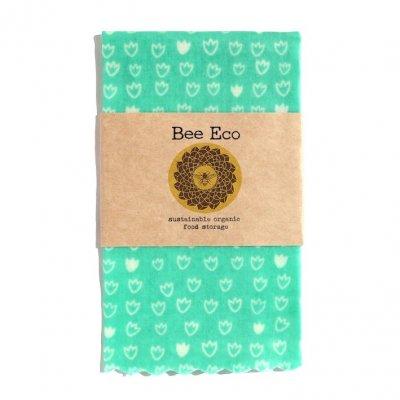 Bee Eco Wrap|天然素材のラップ|Mサイズ [約27×27cm]|ミツロウ×オーガニックコットン|繰返し使用可|S