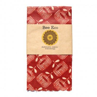 Bee Eco Wrap|天然素材のラップ|Lサイズ [約33×33cm]|ミツロウ×オーガニックコットン|繰返し使用可|F