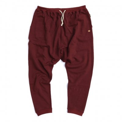 GO HEMP|MUSA PANTS|BURGUNDY|UNISEX