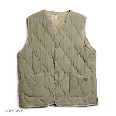 GO HEMP|ARMY QUILT VEST / H/C TWILL|2Colors