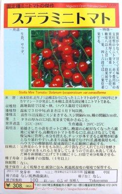 野口のタネ|ステラミニトマト| 貴重な固定種のミニトマト