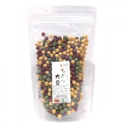 無農薬・自然栽培・色大豆ミックス|300g|岡山県産|ワノオト
