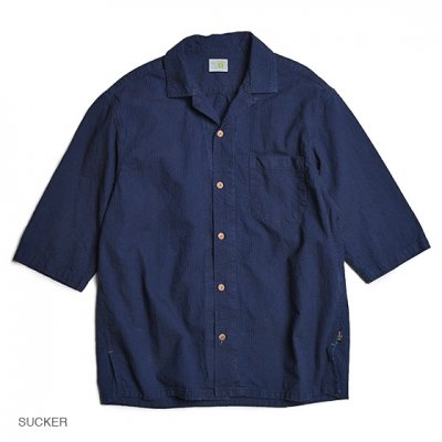 GO HEMP|SHITAMACHI SHIRTS / MINI SUCKER STRIPE