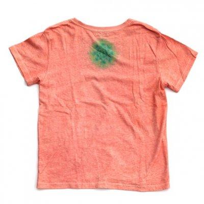 絞り染めヘンプTシャツ|ロータス [背中:青×緑]|茜染め|M|視覚染色家Yogu × 三宅商店