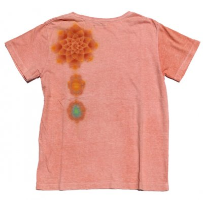 【SALE 日焼け有りの為】絞り染めヘンプTシャツ|ロータス|茜染め|S|視覚染色家Yogu × 三宅商店|通常価格12,300円
