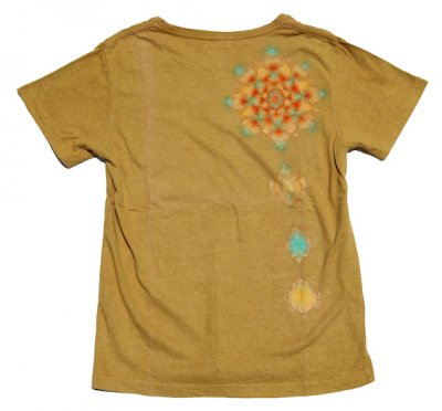 【SALE 日焼け有りの為】絞り染めヘンプTシャツ|ロータス|ヤマモモ染め|S|視覚染色家Yogu × 三宅商店|通常価格12,300円