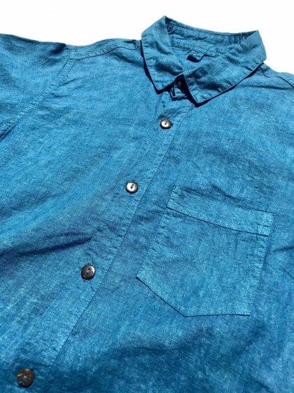 ビバーク|Button Shirts|藍と刈安染め|Sサイズ