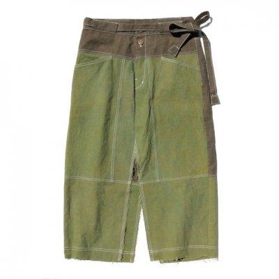 Botanic Green|Dungaree Slit Skirt|草木染め