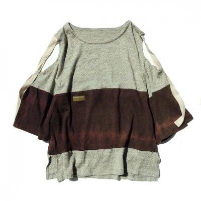 Botanic Green|Kata-aki T-shirt|草木染め|Violet