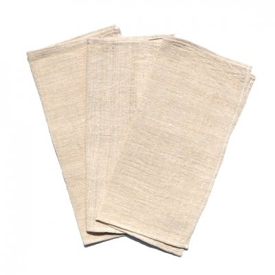 三宅商店×ビバーク|手織りふきん|3枚セット|生成り